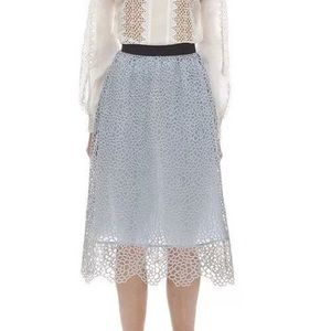 NWT Self-Portrait Daisy Guipure Lace Skirt